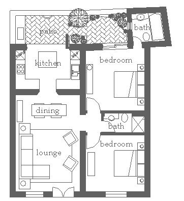 Two bedroom home in Merida | plans